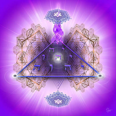 Digital Art - Sacred Geometry 450 by Endre Balogh
