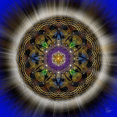 Digital Art - Sacred Geometry 451 by Endre Balogh