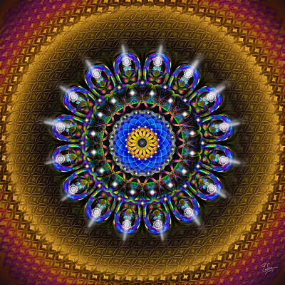 Photograph - Sacred Geometry 452 by Endre Balogh