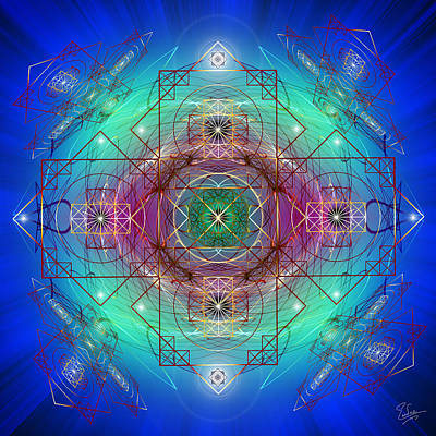 Digital Art - Sacred Geometry 455 by Endre Balogh