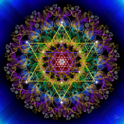 Photograph - Sacred Geometry 464 by Endre Balogh