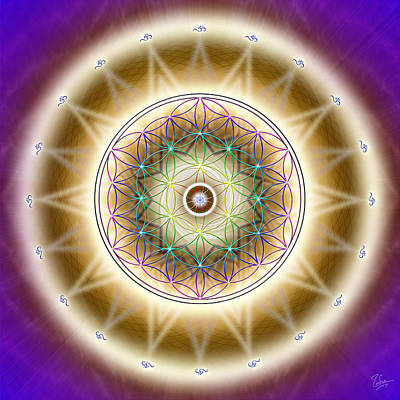 Photograph - Sacred Geometry 465 by Endre Balogh