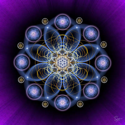 Digital Art - Sacred Geometry 489 by Endre Balogh