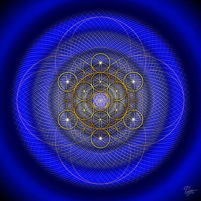 Digital Art - Sacred Geometry 490 by Endre Balogh