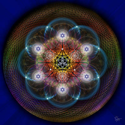 Digital Art - Sacred Geometry 491 by Endre Balogh