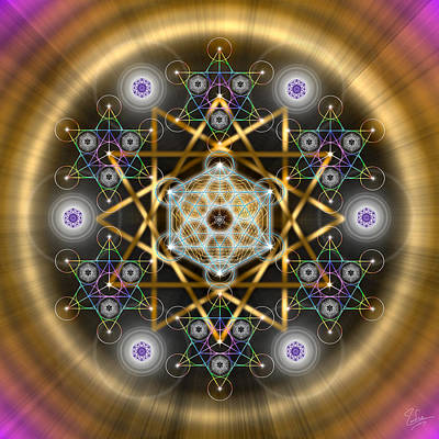 Digital Art - Sacred Geometry 494 by Endre Balogh