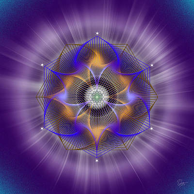 Photograph - Sacred Geometry 519 by Endre Balogh