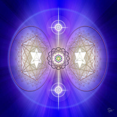 Digital Art - Sacred Geometry 536 by Endre Balogh