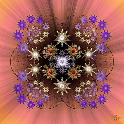 Photograph - Sacred Geometry 538 by Endre Balogh