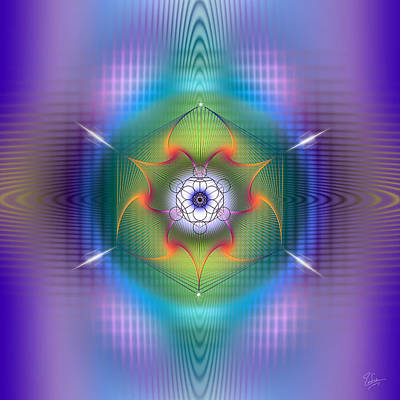 Digital Art - Sacred Geometry 543 by Endre Balogh
