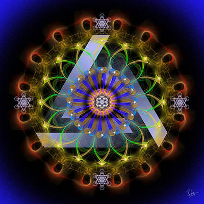 Digital Art - Sacred Geometry 545 by Endre Balogh