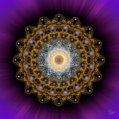 Digital Art - Sacred Geometry 552 by Endre Balogh