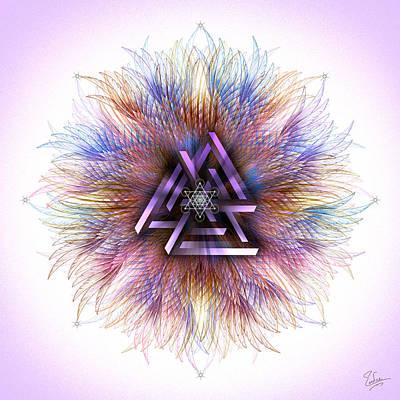 Digital Art - Sacred Geometry 558 Number 2 by Endre Balogh
