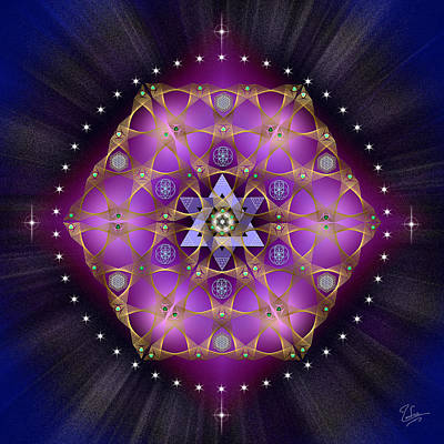 Digital Art - Sacred Geometry 559 by Endre Balogh