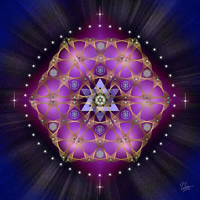 Digital Art - Sacred Geometry 559 by Endre Balogh