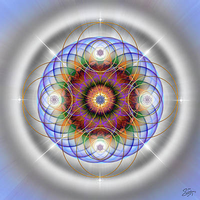 Digital Art - Sacred Geometry 562 by Endre Balogh