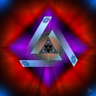 Digital Art - Sacred Geometry 563 by Endre Balogh