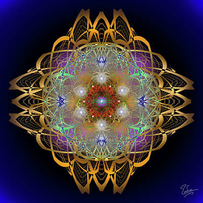Digital Art - Sacred Geometry 570 by Endre Balogh