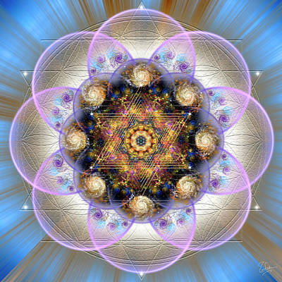 Digital Art - Sacred Geometry 573 by Endre Balogh