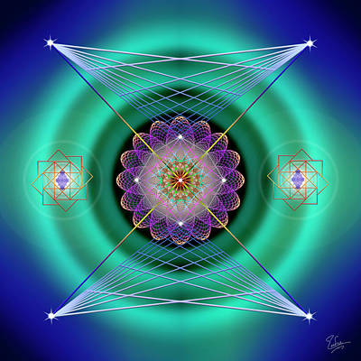 Digital Art - Sacred Geometry 574 by Endre Balogh