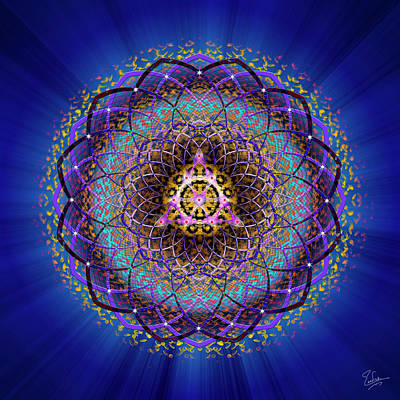 Digital Art - Sacred Geometry 575 by Endre Balogh