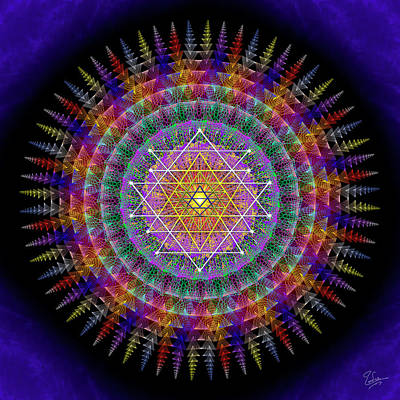 Digital Art - Sacred Geometry 576 by Endre Balogh