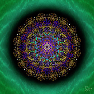 Digital Art - Sacred Geometry 581 by Endre Balogh