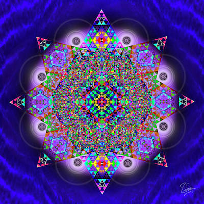 Digital Art - Sacred Geometry 582 by Endre Balogh