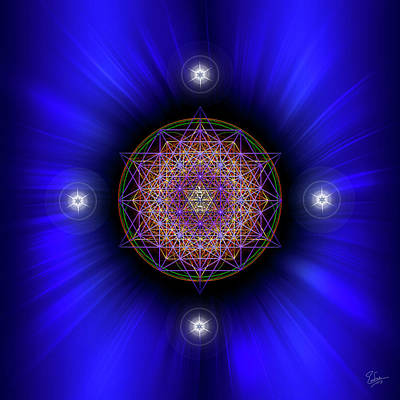 Digital Art - Sacred Geometry 583 by Endre Balogh