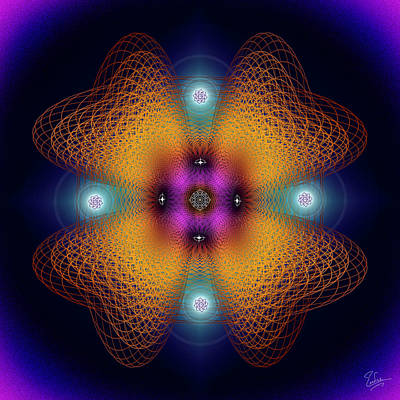Digital Art - Sacred Geometry 584 by Endre Balogh