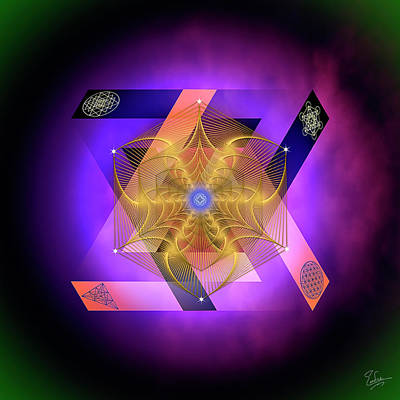 Digital Art - Sacred Geometry 587 by Endre Balogh