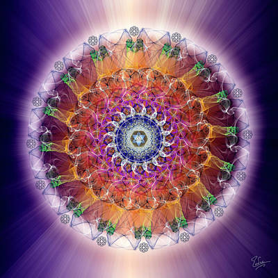 Digital Art - Sacred Geometry 589 by Endre Balogh