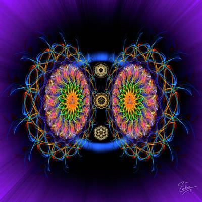 Digital Art - Sacred Geometry 590 by Endre Balogh