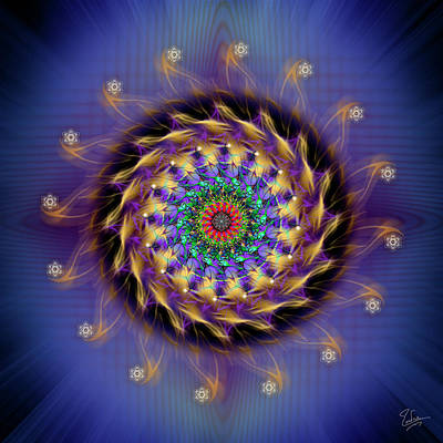 Digital Art - Sacred Geometry 591 by Endre Balogh