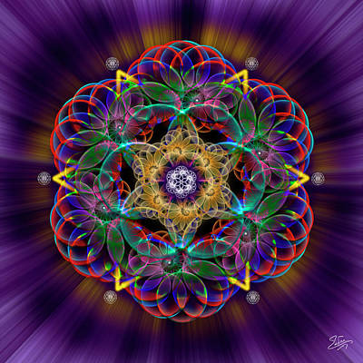 Digital Art - Sacred Geometry 612 by Endre Balogh