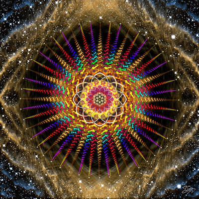 Digital Art - Sacred Geometry 629 by Endre Balogh