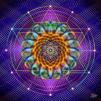 Photograph - Sacred Geometry 632 by Endre Balogh