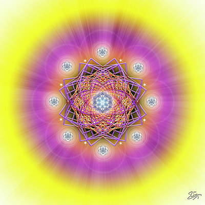 Digital Art - Sacred Geometry 643 by Endre Balogh