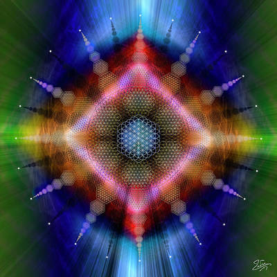 Digital Art - Sacred Geometry 645 by Endre Balogh