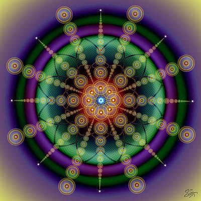 Digital Art - Sacred Geometry 652 by Endre Balogh
