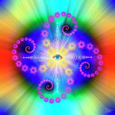 Digital Art - Sacred Geometry 653 by Endre Balogh