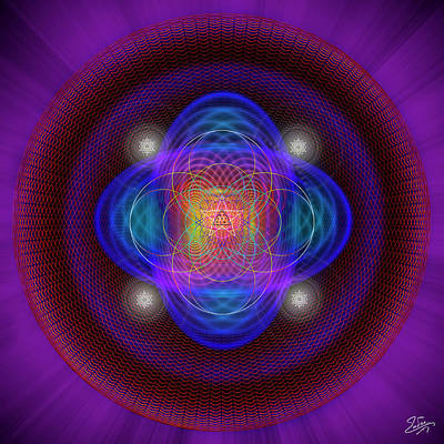 Digital Art - Sacred Geometry 654 by Endre Balogh