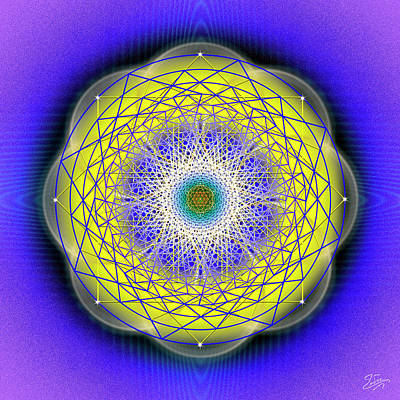 Digital Art - Sacred Geometry 655 by Endre Balogh