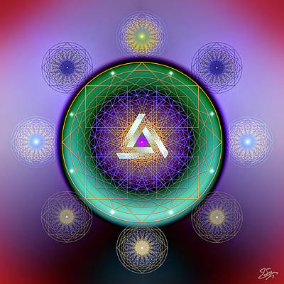 Digital Art - Sacred Geometry 662 by Endre Balogh