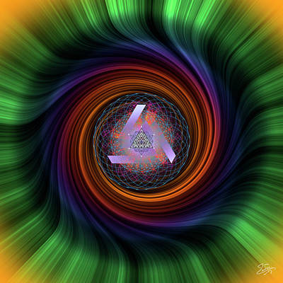 Photograph - Sacred Geometry 667 by Endre Balogh
