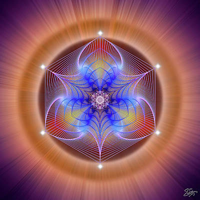 Drawing - Sacred Geometry 670 by Endre Balogh