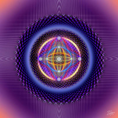 Digital Art - Sacred Geometry 673 by Endre Balogh