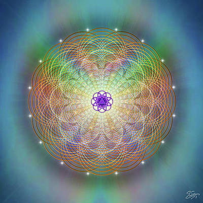 Digital Art - Sacred Geometry 676 by Endre Balogh