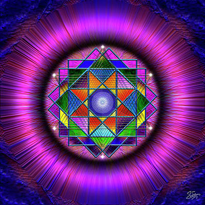Digital Art - Sacred Geometry 677 by Endre Balogh