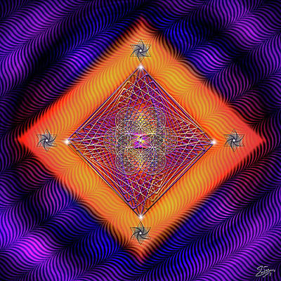 Digital Art - Sacred Geometry 678 by Endre Balogh